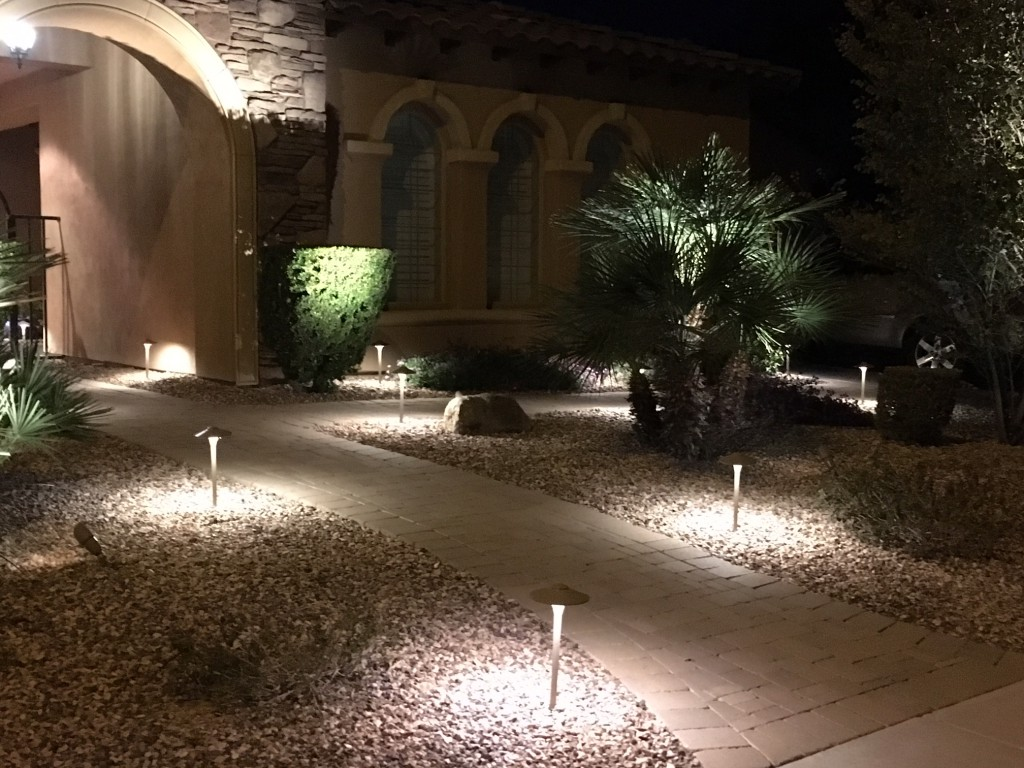 Landscape Lighting Front Side