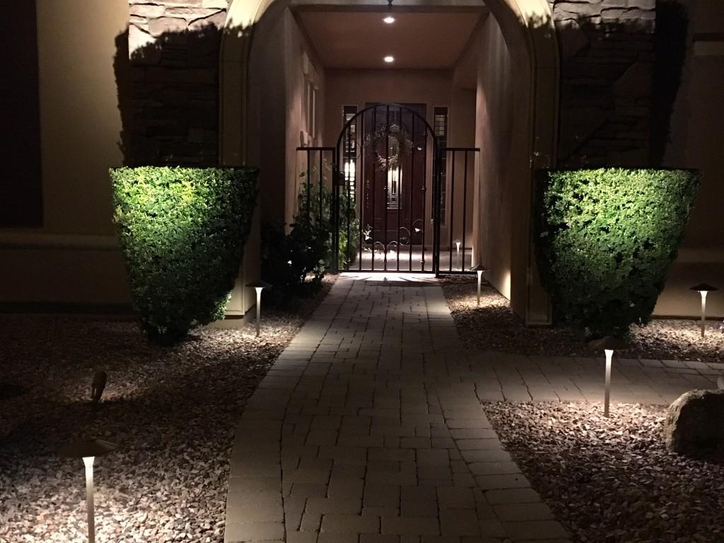 Landscape Lighting Walkway